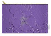 Embossed Bouquet  Carry-all Pouch