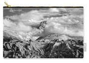 Embraced By Clouds Black And White Carry-all Pouch