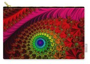 Embroidered Silk And Beaded Square Carry-all Pouch