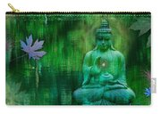 Emerald Crane Carry-all Pouch by Alixandra Mullins