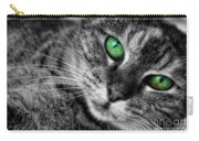 Emerald Eyes Cat  Carry-all Pouch