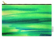 Emerald Flow Abstract I Carry-all Pouch