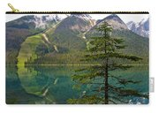 Emerald Lake Reflection And Pine Tree In Yoho National Park-british Columbia-canada Carry-all Pouch