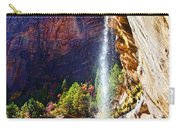 Emerald Pools Trail Waterfall - Zion Carry-all Pouch
