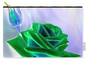 Emerald Rose Watercolor Carry-all Pouch