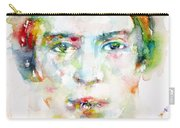 Emily Dickinson - Watercolor Portrait Carry-all Pouch