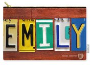 Emily License Plate Name Sign Fun Kid Room Decor Carry-all Pouch