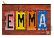 Emma License Plate Name Sign Fun Kid Room Decor Carry-all Pouch
