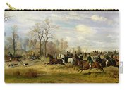 Emperor Franz Joseph I Of Austria Hunting To Hounds With The Countess Larisch In Silesia Carry-all Pouch by Emil Adam