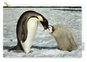 Emperor Penguin Chick Feeding Carry-all Pouch