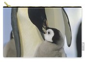 Emperor Penguin Parent Feeding Chick Carry-all Pouch
