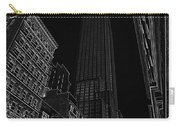 Empire Nyc White On Black Carry-all Pouch