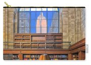 Empire State Building At The New York Public Library Carry-all Pouch