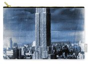 Empire State Building Blimp Docking Blue Carry-all Pouch