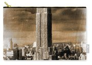 Empire State Building Blimp Docking Sepia Carry-all Pouch