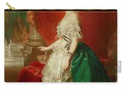 Empress Eugenie Of France 1826-1920 Wife Of Napoleon Bonaparte IIi 1808-73 Oil On Canvas Carry-all Pouch