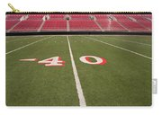 Empty American Football Stadium 40 Yard Line Carry-all Pouch