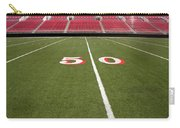 Empty American Football Stadium 50 Yard Line Carry-all Pouch
