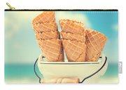 Empty Ice Cream Cones Carry-all Pouch