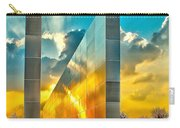 Empty Skies Sunset Carry-all Pouch by Nick Zelinsky