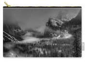 Enchanted Valley In Black And White Carry-all Pouch by Bill Gallagher