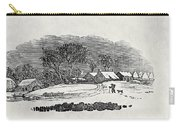 Endpiece, Late 18th Or Early 19th Century Wood Engraving 99;landscape; Winter; Figure; Snow; Snowy; Carry-all Pouch