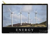 Energy Inspirational Quote Carry-all Pouch
