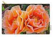 Engelmann Prickly Pear Cactus Flowers In Big Bend National Park-texas Carry-all Pouch