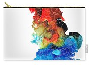 England - Map Of England By Sharon Cummings Carry-all Pouch
