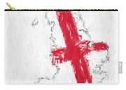 England Painted Flag Map Carry-all Pouch