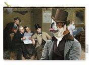 English Bulldog Art - The Latest News Carry-all Pouch