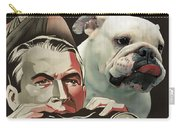 English Bulldog Art Canvas Print - Rear Window Movie Poster Carry-all Pouch