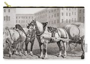 English Farm Horses, 1823 Carry-all Pouch