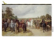 English Horse Fair On Southborough Common Carry-all Pouch by John Frederick Herring Snr
