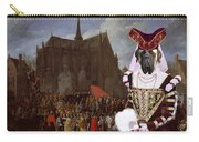 English Mastiff  - Mastiff Art Canvas Print - Waiting For Her Turn Carry-all Pouch