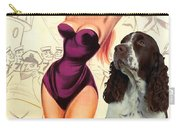 English Springer Spaniel Art Canvas Print - Doctor At Sea Movie Poster Carry-all Pouch