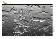 Engraved Snowman Playing The Piano Carry-all Pouch