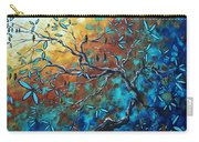 Enormous Abstract Bird Art Original Painting Where The Heart Is By Madart Carry-all Pouch