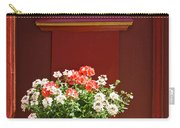 Entrance Door With Flowers Carry-all Pouch by Heiko Koehrer-Wagner