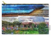Epcot Globe And Blue Monorail Walt Disney World Photo Art 02 Carry-all Pouch