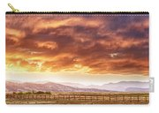 Epic Colorado Country Sunset Landscape Panorama Carry-all Pouch