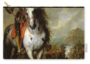 Equestrian Portrait Of Prince Eugene De Savoie 1663-1736 C.1700-10 Oil On Panel Carry-all Pouch