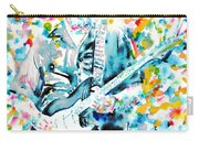 Eric Clapton - Watercolor Portrait Carry-all Pouch