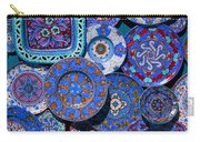 Erice Italy Plates Blue Carry-all Pouch
