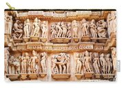 Erotic Human Sculptures Khajuraho India Carry-all Pouch