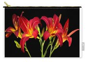 Erotic Red Flower Selection Romantic Lovely Valentine's Day Print Carry-all Pouch