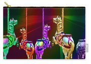 Escape Of The Carousel Horses Carry-all Pouch
