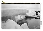 Eskimo Boys Ice Fishing Barrow Alaska  July 1969 Carry-all Pouch