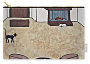 Essence Of Home - Black And White Cat In Living Room Carry-all Pouch