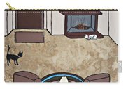 Essence Of Home - Cat By Fireplace Carry-all Pouch